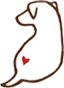 Dog heart sub-logo